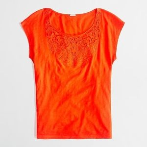 J. Crew Factory Embroidered Bib Tee #62062